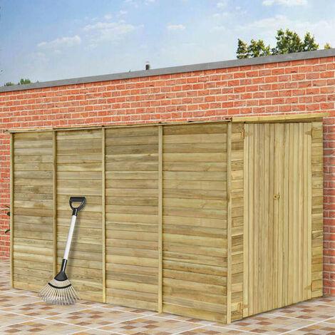 Hommoo Cobertizo para jardín de madera pino impregnada 315x159x178 cm