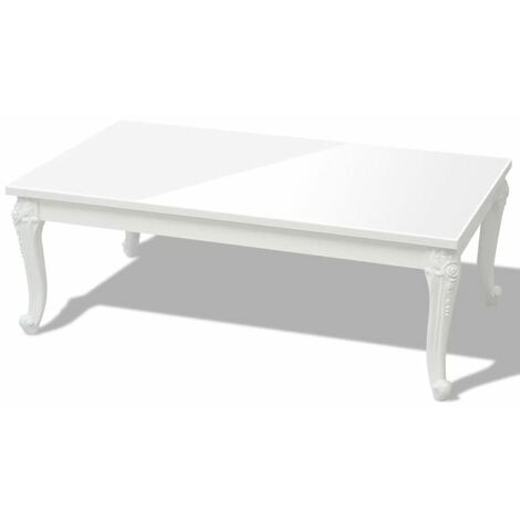 Hommoo Coffee Table 115x65x42 cm High Gloss White QAH09775