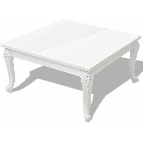 Hommoo Coffee Table 80x80x42 cm High Gloss White QAH09773