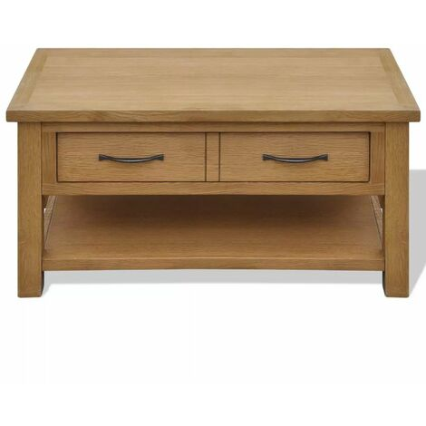 Hommoo Coffee Table 88x53x45 cm Solid Oak Wood QAH09397