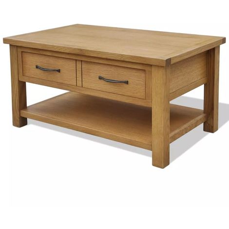 Hommoo Coffee Table 88x53x45 cm Solid Oak Wood VD09397