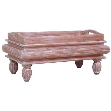 Hommoo Coffee Table Brown 90x50x40 cm Solid Mahogany Wood