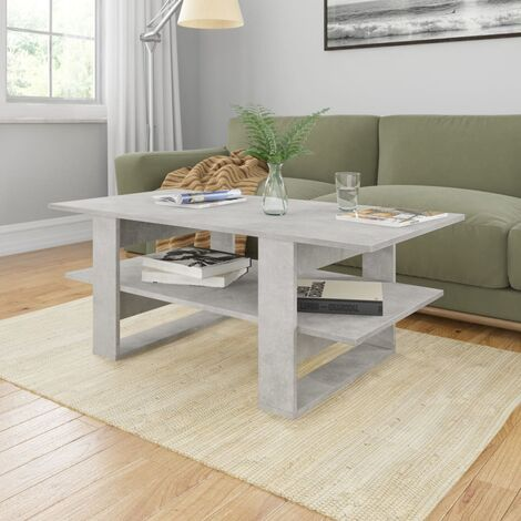 Hommoo Coffee Table Concrete Grey 110x55x42 cm Chipboard