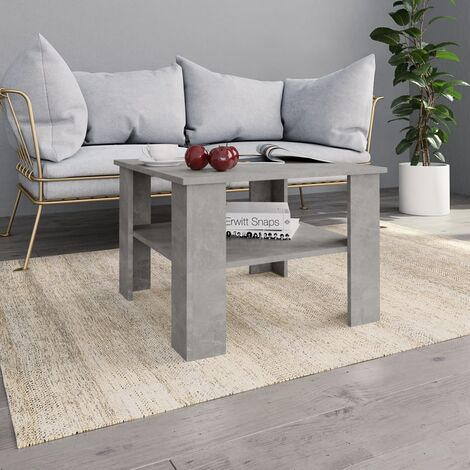Hommoo Coffee Table Concrete Grey 60x60x42 cm Chipboard