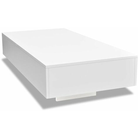 Hommoo Coffee Table High Gloss White QAH10255