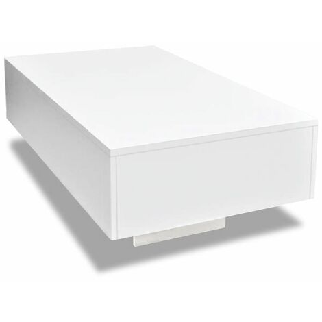Hommoo Coffee Table High Gloss White QAH10256