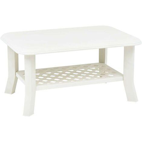 Hommoo Coffee Table White 90x60x46 cm Plastic VD46683