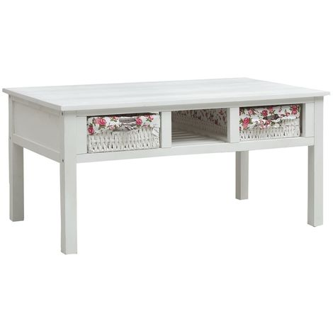 Hommoo Coffee Table White 99.5x60x48 cm Wood VD37466