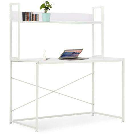 Hommoo Computer Desk White 120x60x138 cm