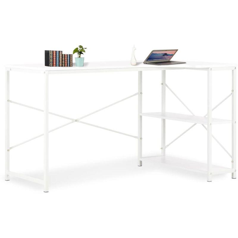Hommoo Computertisch Weiß 120¡Á72¡Á70 cm