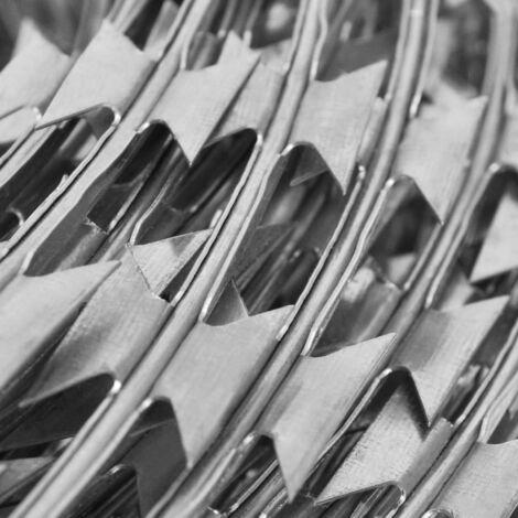 Hommoo Concertina NATO Razor Wire Galvanised Steel 300 m QAH05260
