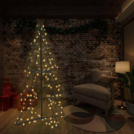 Hommoo Cono árbol de Navidad de 240 LED interior y exterior 115x150 cm