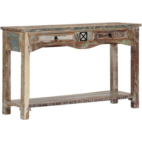 Hommoo Console Table 120x40x75 cm Solid Reclaimed Wood