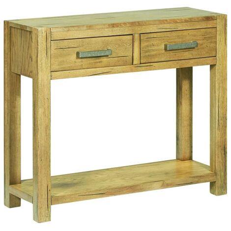 Hommoo Console Table 83x30x73 cm Rustic Oak Wood