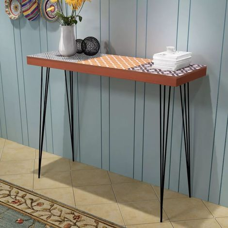 Hommoo Console Table 90x30x71.5 cm Brown