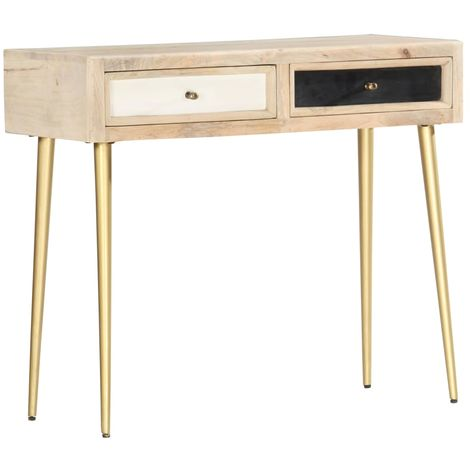 Hommoo Console Table 90x30x75 cm Solid Mango Wood