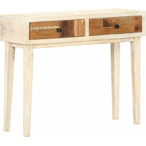 Hommoo Console Table 90x30x75 cm Solid Reclaimed Wood