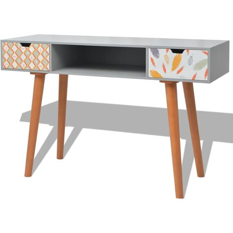 Hommoo Console Table MDF 120x40x78 cm Grey