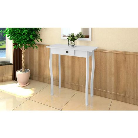 Hommoo Console Table MDF White