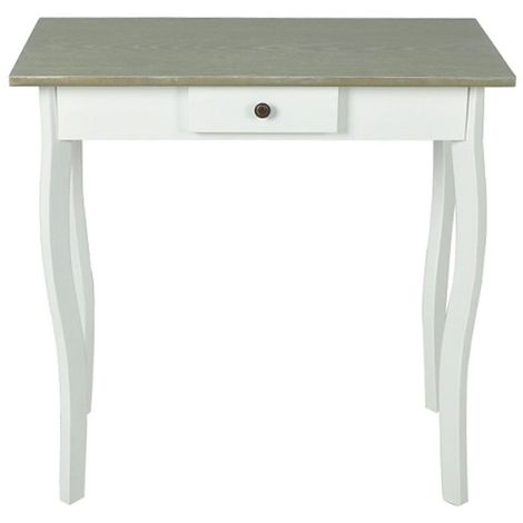 Hommoo Console Table MDF White and Greyish Brown