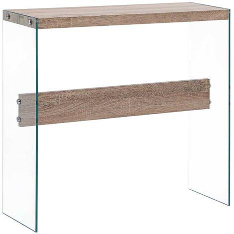 Hommoo Console Table Oak 82x29x75.5 cm MDF