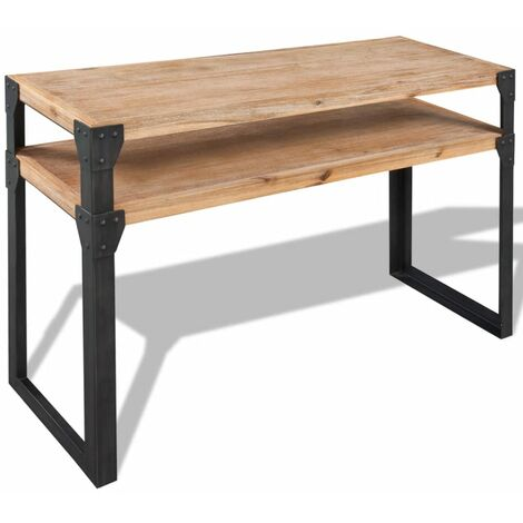 Hommoo Console Table Solid Acacia Wood 120x40x85 cm