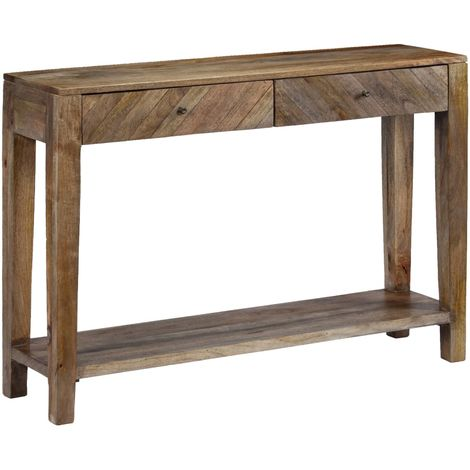 Hommoo Console Table Solid Mango Wood 118x30x80 cm