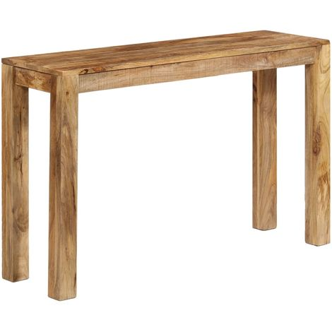 Hommoo Console Table Solid Mango Wood 118x35x76 cm