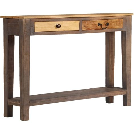 Hommoo Console Table Solid Wood Vintage 118x30x80 cm