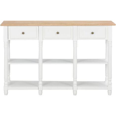 Hommoo Console Table White 120x30x76 cm MDF QAH22169