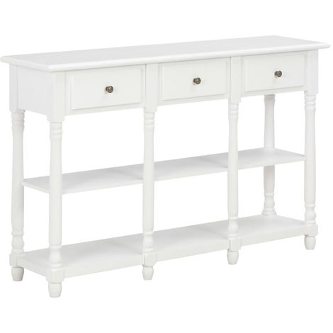 Hommoo Console Table White 120x30x76 cm MDF VD22168
