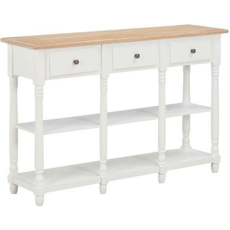 Hommoo Console Table White 120x30x76 cm MDF VD22169