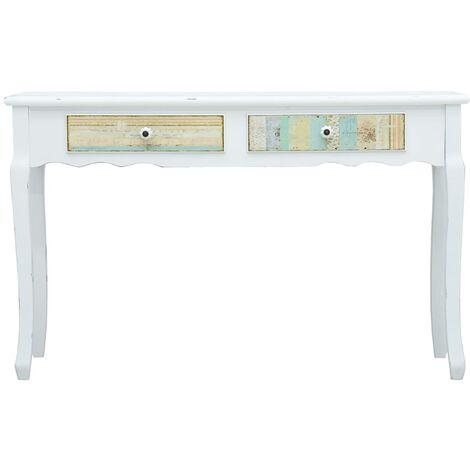 Hommoo Console Table White 120x40x74.5 cm Wood QAH25923