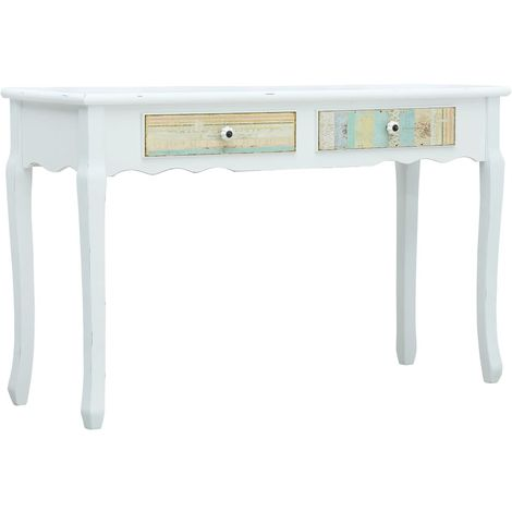 Hommoo Console Table White 120x40x74.5 cm Wood VD25923
