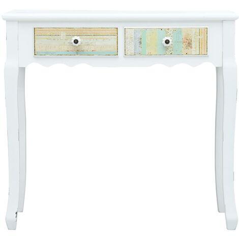 Hommoo Console Table White 80x40x74 cm Wood QAH25922
