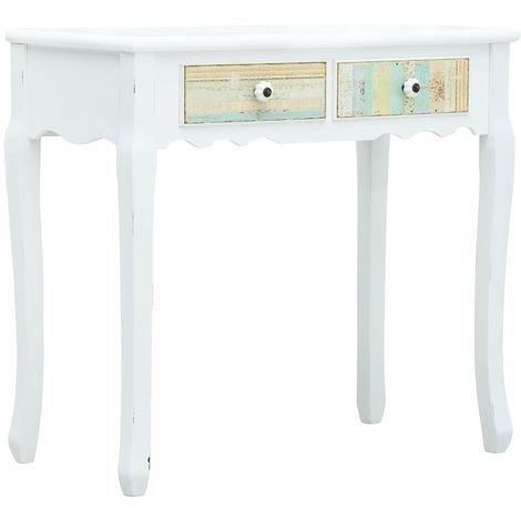 Hommoo Console Table White 80x40x74 cm Wood VD25922