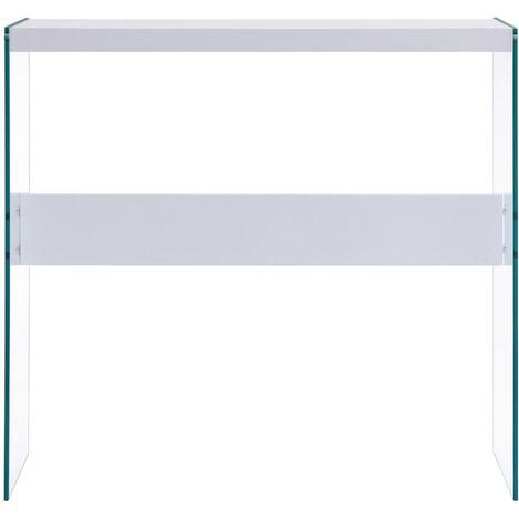 Hommoo Console Table White 82x29x75.5 cm MDF QAH13190