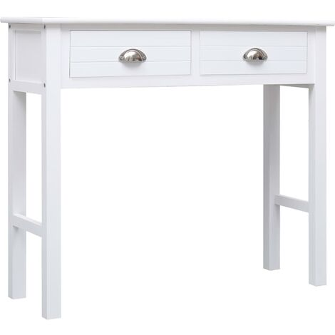 Hommoo Console Table White 90x30x77 cm Wood QAH24686