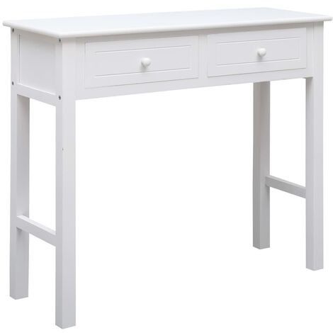 Hommoo Console Table White 90x30x77 cm Wood VD24688