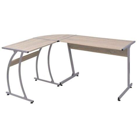 Hommoo Corner Desk L-Shaped Oak