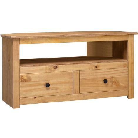 Hommoo Corner TV Cabinet 93x55x49 cm Solid Pine Panama Range