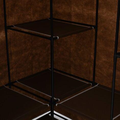 Hommoo Corner Wardrobe Brown 130x87x169 cm QAH23563