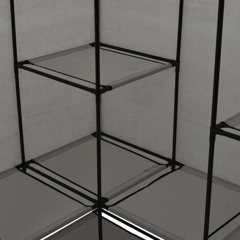 Hommoo Corner Wardrobe Grey 130x87x169 cm QAH23565