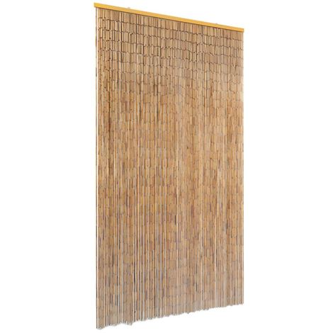 Hommoo Cortina de bambú para puerta contra insectos 100x200 cm