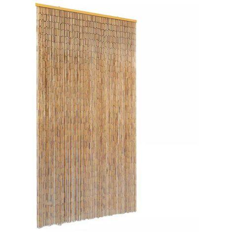 Hommoo Cortina de bambú para puerta contra insectos 100x220 cm