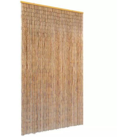 Hommoo Cortina de bambú para puerta contra insectos 120x220 cm