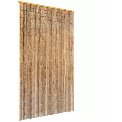 Hommoo Cortina de bambú para puerta contra insectos 120x220 cm HAXD28011
