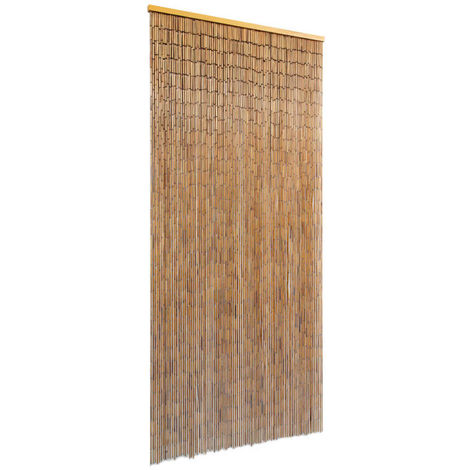 Hommoo Cortina para puerta 90x200 cm bambú