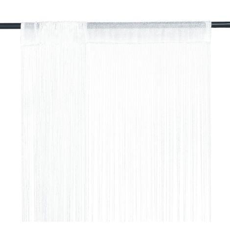Hommoo Cortinas de flecos 2 piezas 100x250 cm blancas