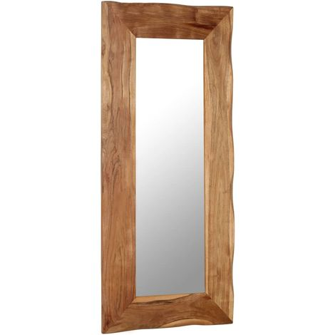 Hommoo Cosmetic Mirror 50x110 cm Solid Acacia Wood